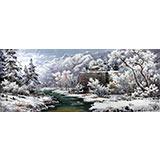 小八尺朝鲜雪景国画《冬天》