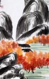 刘纪 三尺红叶山居《红叶山居图》 河南著名老画家