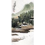【已售】刘纪 三尺竹子最新博彩大全《竹林人家》 河南著名老画家