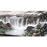 【已售】刘兴全六尺写意山水画《水源广长》