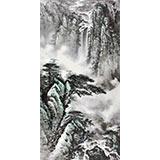 著名画家王凌云四尺19461188伟德《云壑飞瀑》