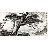 黄奇松四尺精品山水画《松风流水天然调》