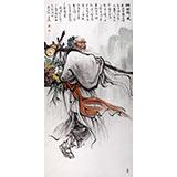 【已售】名家赵金鸰四尺水墨19461188伟德《采药归来》(询价)