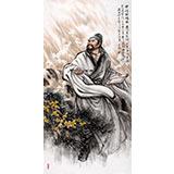 【已售】名家赵金鸰四尺李白人物《黄河抒怀图》(询价)