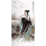 名家赵金鸰四尺思乡仕女《文姬思乡》(询价)