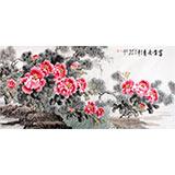 【已售】国家一级美术师王宝钦六尺《富贵长青》(询价)