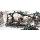 【已售】名家赵金鸰四尺水墨山水画《春光无限》(询价)