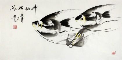 黑龙江民族书画院副院长齐根石三尺《神仙世界》