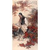中国美协赵金鸰四尺杜牧《赏秋图》(询价)