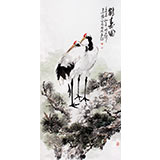 王向阳四尺松鹤延年《鹤寿图》 中国美术家协会会员(询价)