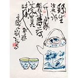 刘纪 小尺寸精品国画《野生淡水升》 河南著名老画家