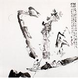 陈漫之四尺斗方水墨人物画《前赤壁赋》(询价)