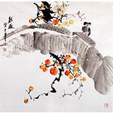 王宝钦 四尺斗方《秋趣》当代花鸟牡丹画名家(询价)