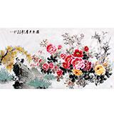 【已售】国家一级美术师王宝钦六尺《国色天香》(询价)