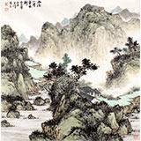【已售】国家画院刘金河四尺斗方《雨后山中草木新》