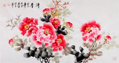 国家一级美术师王宝钦三尺《清香》