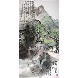 民盟美协理事黄奇松作品《壮乡侗寨风雨桥》