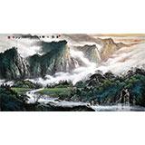 【已售】张慧仁六尺精品山水《春归之图》