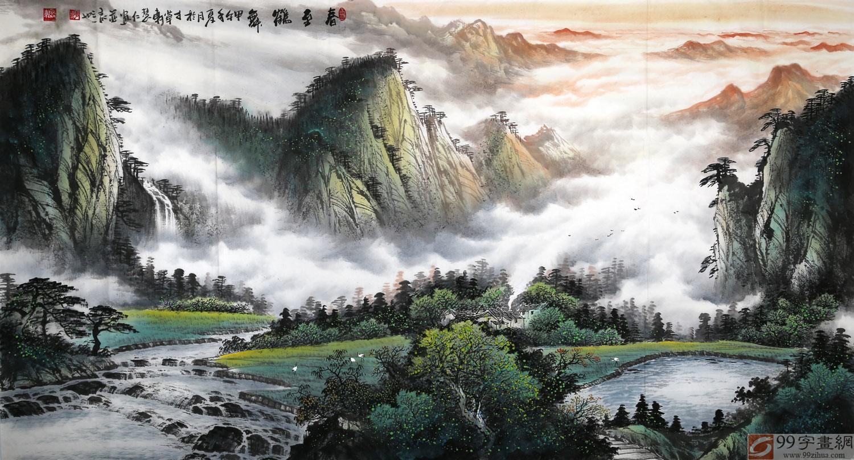 鹤舞 写意油画图片
