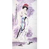 【已售】李凤英四尺人物作品《杨贵妃》