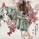 中国煤炭美术家协会理事 郑庆年《秋趣》