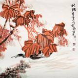 【已售】中国煤炭美术家协会理事 郑庆年《秋趣》