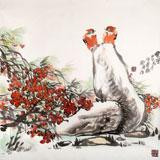 中国煤炭美术家协会理事 郑庆年《秋实》