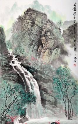 玄关旺财山水画 - 写意山水画 - 99字画网