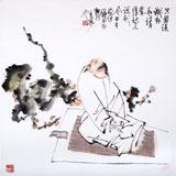 【已售】南海禅寺 妙林居士 四尺斗方《梅香图》