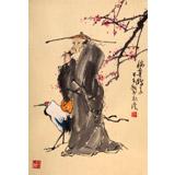 【已售】南海禅寺 妙林居士 作品《梅妻鹤子》