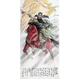 河北美协理事赵金鸰作品武帝关公《旗开得胜》(询价)