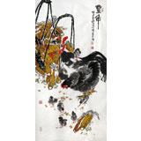曲逸之 四尺《丰年》 河南省著名花鸟画家