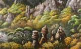 大尺寸朝鲜国画《七宝山的秋天》