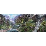 【已售】大尺寸朝鲜国画《金刚山的夏天》