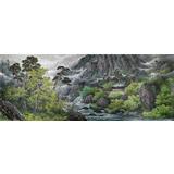 【已售】小八尺朝鲜国画《七宝山的夏天》