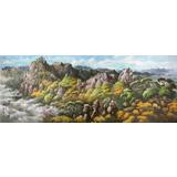 【已售】大尺寸朝鲜国画《七宝山的秋天》