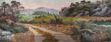 大尺寸朝鲜国画《山村的秋天》
