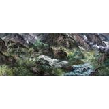 【已售】最新博彩大全家李明大尺寸国画《金刚山的夏天》