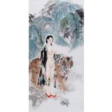 【已售】 魏志平 四尺《美丽家园》 河北省美协会员