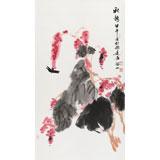花鸟画名家李绍山 三尺《秋艳》