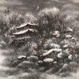 名家赵金鸰太行雪村系列四尺斗方《寻梦》(询价)