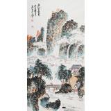 李明成三尺山水画《林壑憂美》中国书法家协会会员