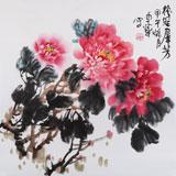 【已售】河北著名老花鸟画家刘卓华四尺斗方《艳冠群芳》