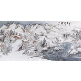 宁全喜 四尺《山乡雪霁》国家画院龙瑞工作室画家
