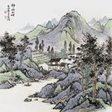国家画院刘金河四尺斗方作品《静静的山村》