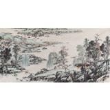 【已售】国家画院宁全喜四尺《春江泛舟》