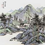 刘金河四尺斗方《静静的山村》中国美术家协会会员(询价)