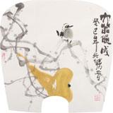 李胜春小尺寸扇画《大器晚成》