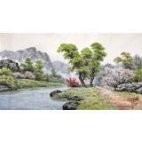 朝鲜名家蔡京华 四尺《山河的早晨》