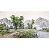 【已售】朝鲜名家蔡京华 四尺《山河之春》